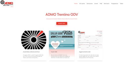 Nuovo sito ADMO Trentino