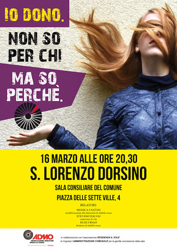 Serata informativa a S. Lorenzo Dorsino