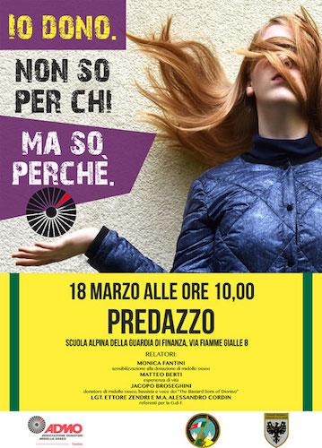 Evento di sensibilizzazione con gli allievi della Scuola Alpina della Guardia di Finanza di Predazzo